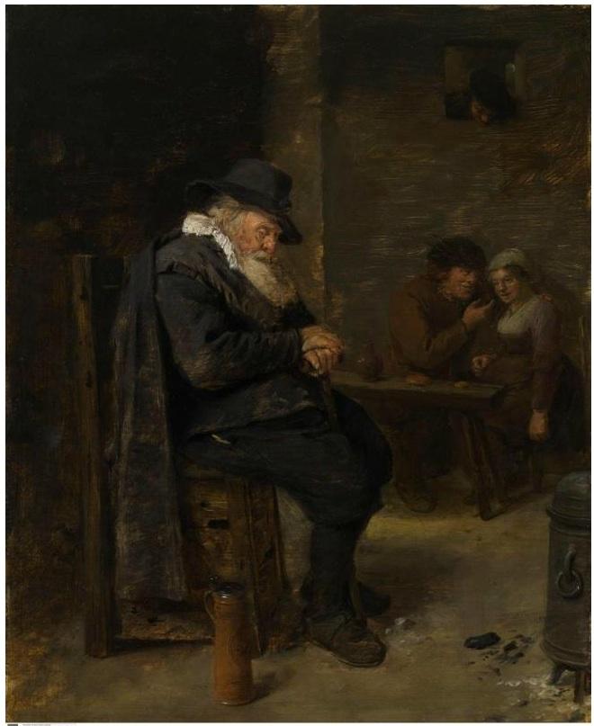 Old man in an inn