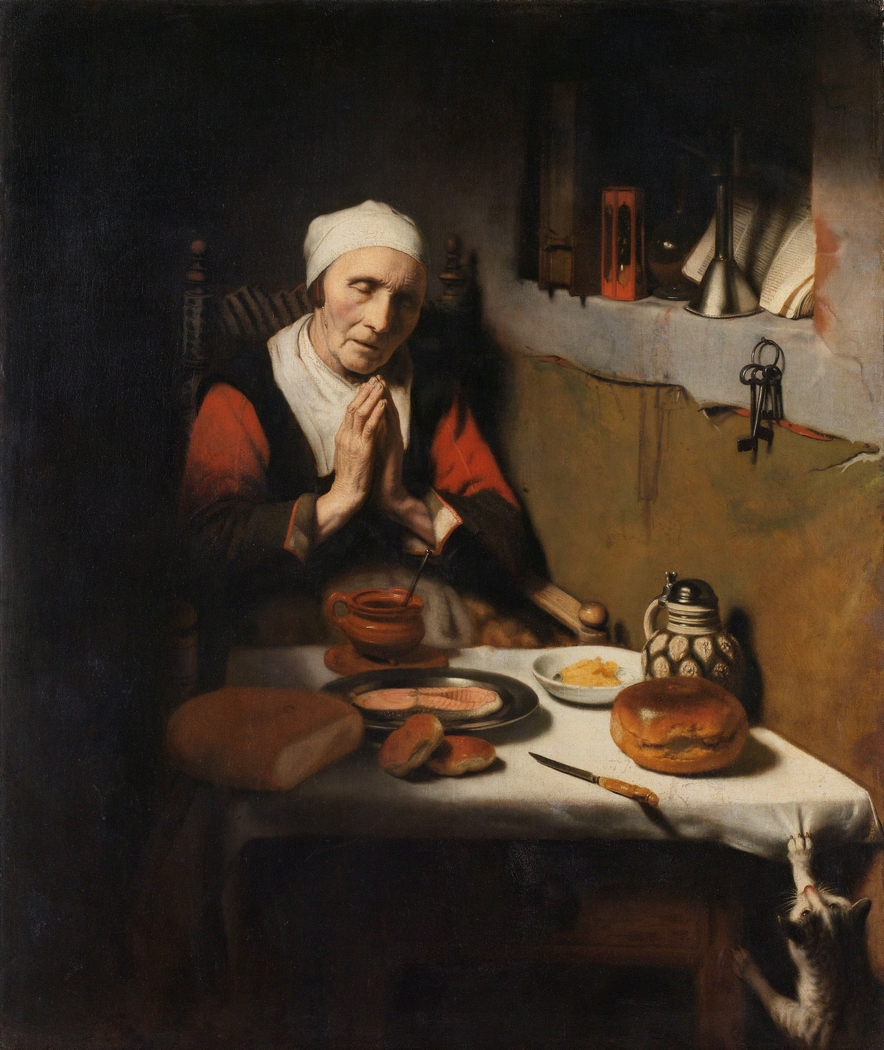 Old Woman Saying Grace, Known as 'The Prayer without End'