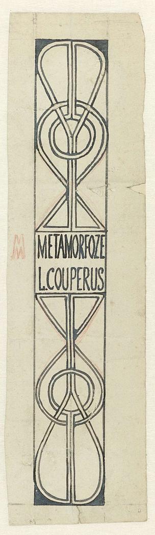 Ontwerp voor boekrug van Henri Borels Een Droom