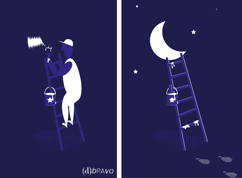 Painting moon