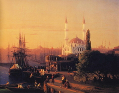 Panorama of Constantinopole (detail)