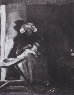 Peasant Woman Sewing