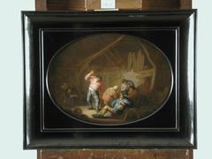 Peasants in a Rustic Interior