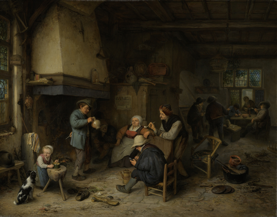 Peasants in an Interior