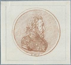 Penning met portret van Hendrik II, koning van Frankrijk