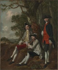 Peter Darnell Muilman, Charles Crokatt and William Keable in a Landscape