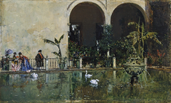 Pool in the Gardens of the Real Alcázar, Seville