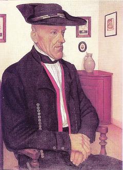 Portrait de Martin Zilliox en costume d'Oberseebach