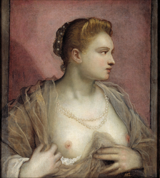 Portrait of a Bare-Breasted Woman