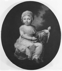 Portrait of a Child Holding a Doll