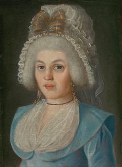 PORTRAIT OF A LADY IN LACE BONNET