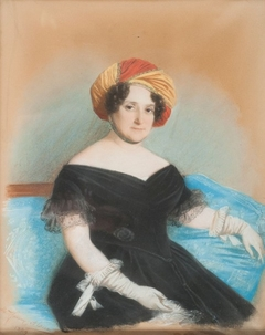portrait of a woman in a turban
