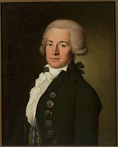 Portrait of a young man in a wig en catogan