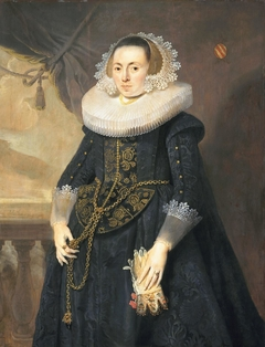 Portrait of an unknown lady with marriage glove