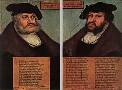 Portraits of Johann I and Frederick III the Wise, Electors of Saxony