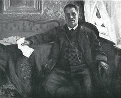 Porträt des Vaters Franz Heinrich Corinth mit Brief