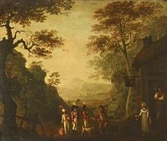 Recruiting Scene in a Landscape Setting