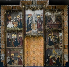 Retablo with Seven Scenes from the Life of the Virgin