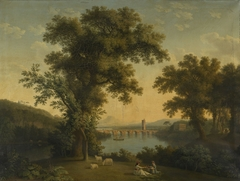 River Landscape with Women Playing with a Child