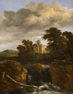 Rocky Landscape with Castle and Cascade