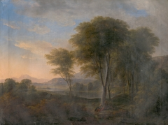 Romantic Landscape with a Tree in the Background