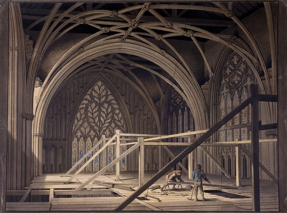 Scaffolding at the West End of the Minster