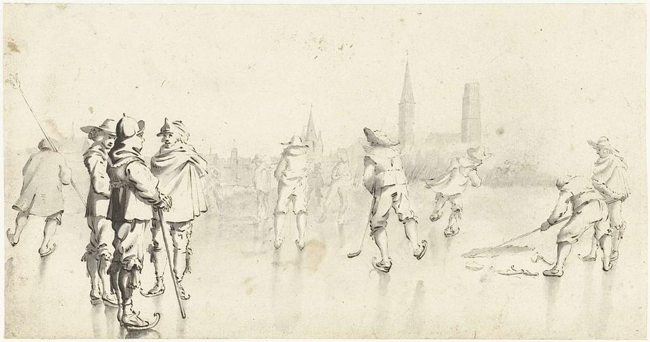 Schaatsers buiten Zwolle