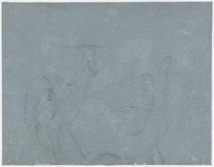 Schets van de onderste helft van het beeldhouwwerk Samson en de Filistijnen