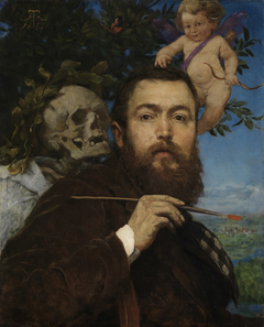 Self-Portrait with Cupid and Death
