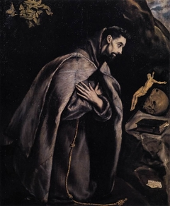 Saint Francis in Prayer before the Crucifix