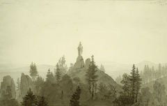 Statue of the Madonna in the Mountains
