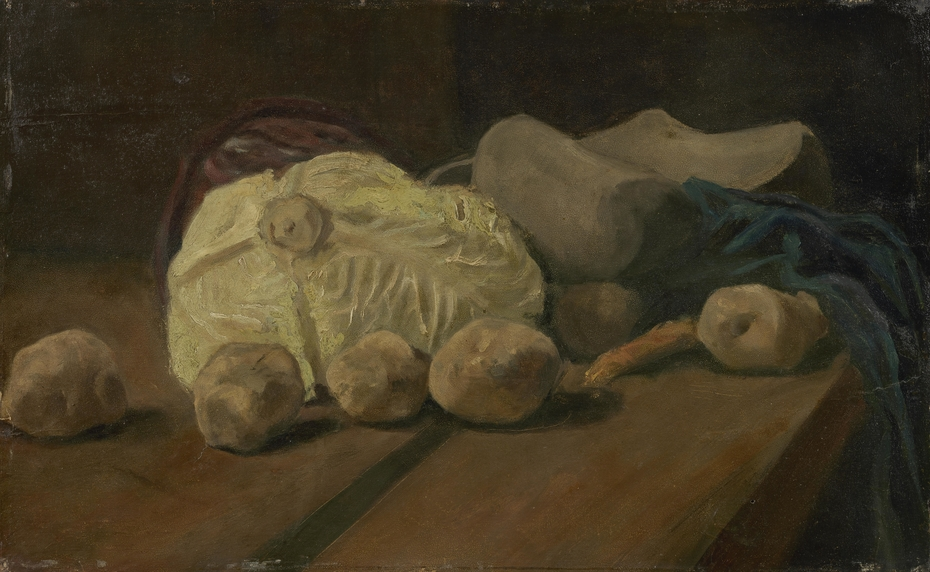 Still Life with Cabbage and Clogs