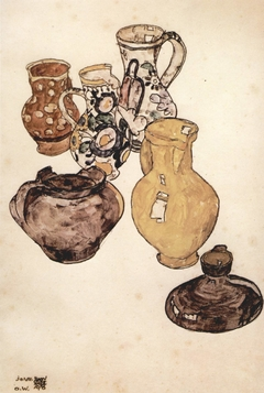 Still life with crockery