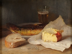 Still Life with Fish, Cheese and Bread