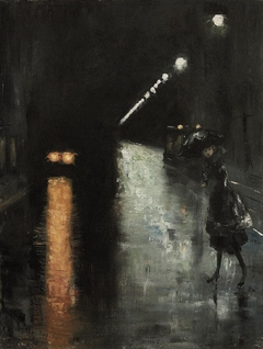 Street scene at Night, Berlin