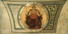 """Study for Mosaic, Wisconsin State Capital, """"Justice"""""""