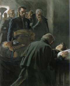 The Death of Wilhelm von Schwerin (original painting for the Tales of Ensign Stål)
