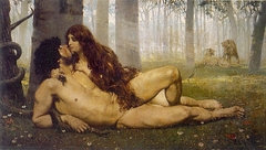 The First kiss of Adam and Eve