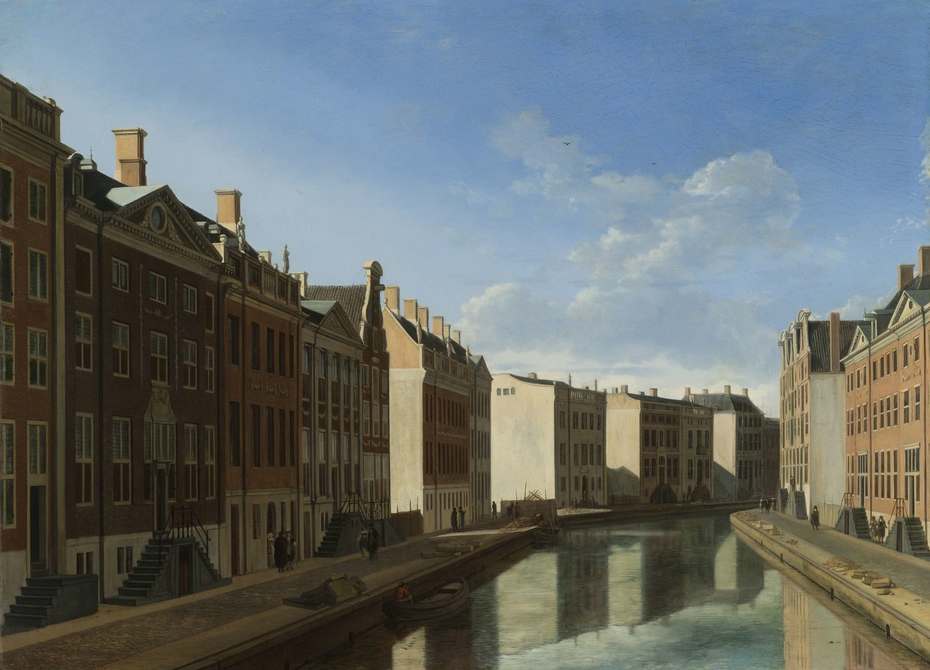 The 'Golden Bend' in the Herengracht, Amsterdam, Seen from the East