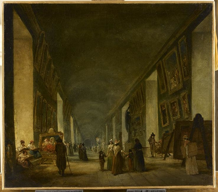 The Grande Galerie of the Louvre, between 1794 and 1796