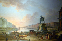 The Hôtel des Monnaies, The Pont Royal and The Louvre, from the Pont Neuf, circa 1775