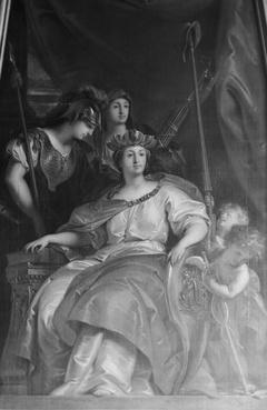The personification of Amsterdam as a lady