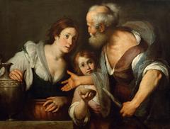 The prophet Elias and the widow of Sarepta