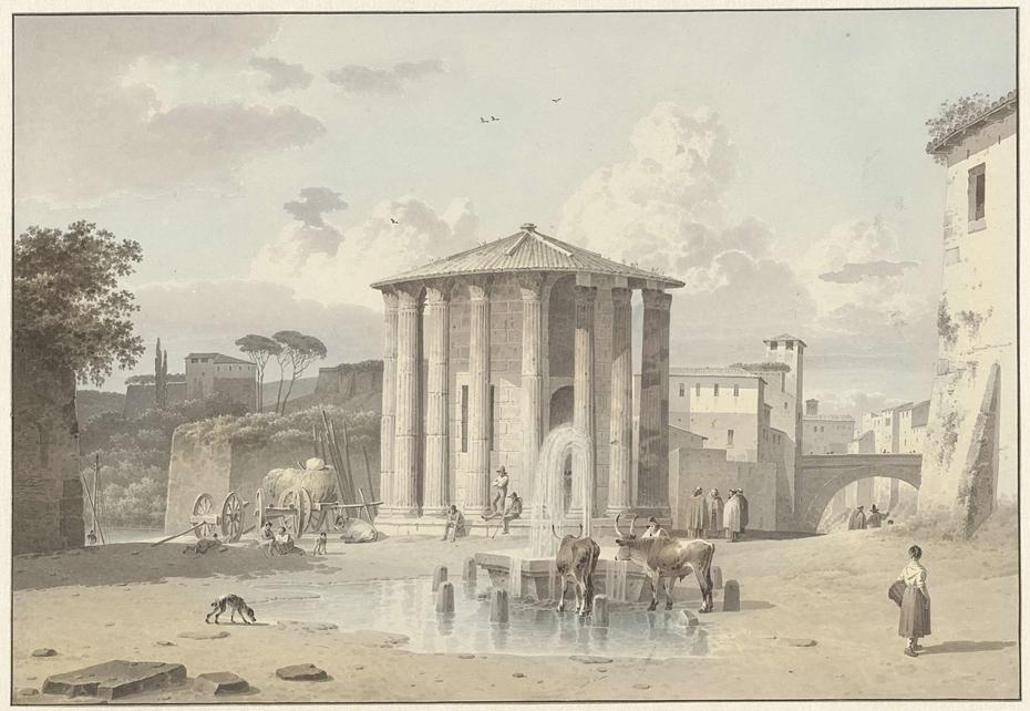 The Temple of Vesta in Rome