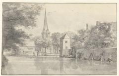 The town of Geervliet and part of Hof van Putten Castle