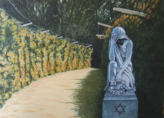 "'""The Tube"" at Treblinka' (2007), oil on linen, 140 x 100 cm."
