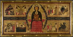 The Virgin and Child Enthroned, with Narrative Scenes