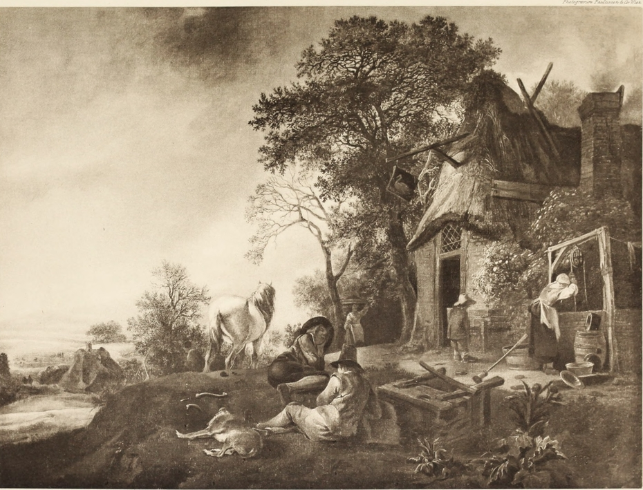 Travellers Halting at a Village Inn