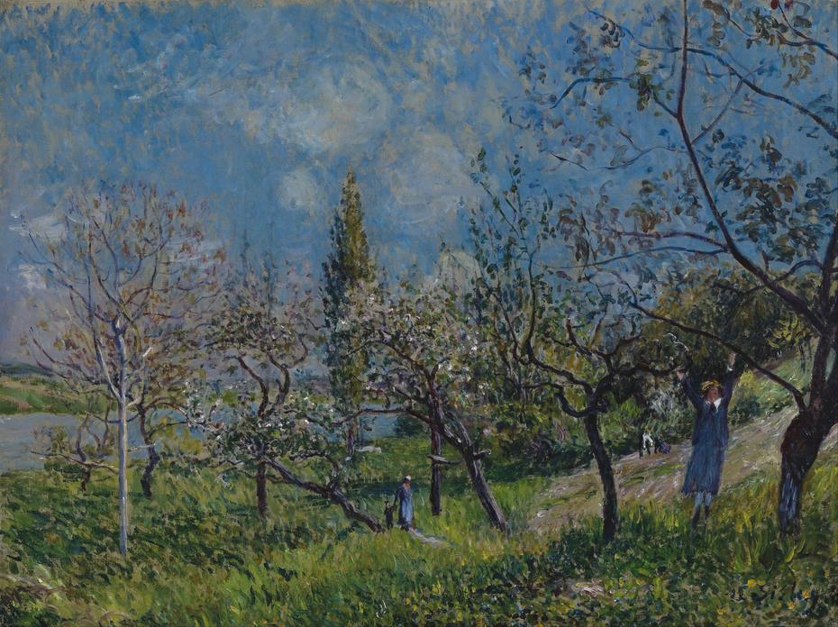 Un verger au printemps, By