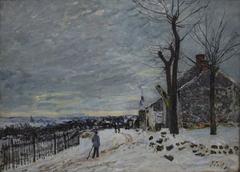 Temps de neige a Veneux-Nadon
